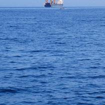 Ankerndes Schiff