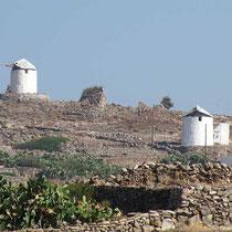 Windmühlen oberhalb von Chorio