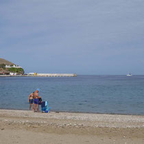 Der Mittag am Strand