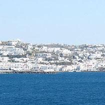 Das Häusermeer von Mykonos