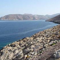 Die Bucht von Ormos Aegialis
