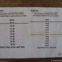 Busfahrplan Vorsaison