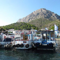 Die Fährboote in Telendos