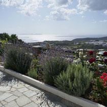 Aussicht von der Terrasse von Flora