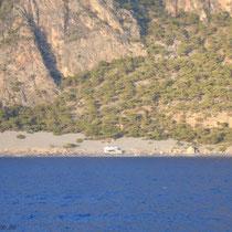 Kreta: Blick nach Agios Pavlos vom Boot aus