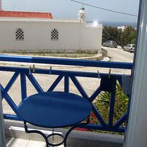 ....und der Balkon