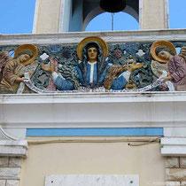 Relief am Glockenturm..