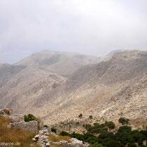 Chalki: Blick vom Kastro nach Westen