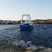 Auch größere Fischerboots gibt es hier