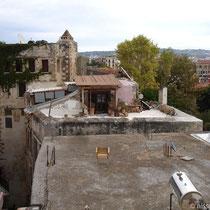 "Kreta: Blick vom Dachbalkon des ""Casa de l'Amore"""