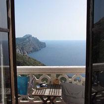 Blick aus der Balkontüre...