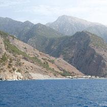 Die Samaria-Schlucht bei Agia Roumeli