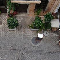 Kreta: Blick vom Dachbalkon auf die Odos Theotokopoulou
