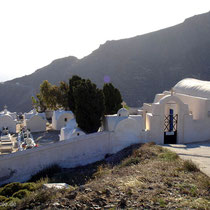 Anafi: Friedhof in Chora