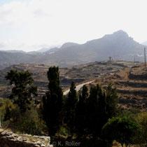 Tinos: Blick auf den Exomburgo
