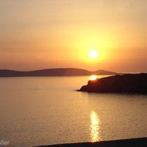 Andros: Sonnenuntergang
