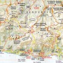 Ausschnitt aus Anavasi-Karte Iraklio-Rethymno, 2016, 1:100.000