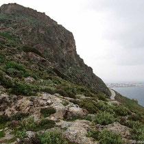 Der Kastrofelsen und Molos