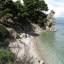 Strand, nicht sehr sauber....