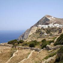Folegandros: Blick auf die Chora