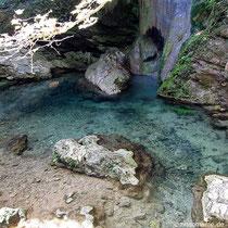 Der Wasserfall von Fonisa bei Milopotamos