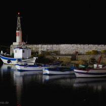 Kasos: Der Bouka-Hafen bei Nacht