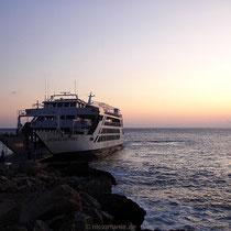 """Kreta: Die """"Daskalogiannis"""" am Anleger von Chora Sfakion"""