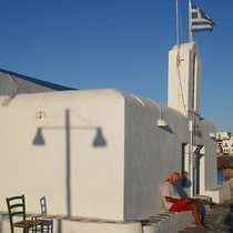 Agios Nikolaos mit ausdauerndem Leser