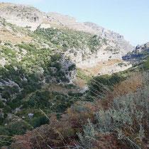 Die Schlucht von Agios Dimitrios