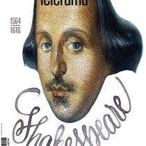 Calligraphie/Lettrage pour le titre de couverture Hors-série Télérama Shakespeare, illustration de Carlos Nine