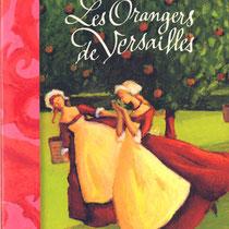 """Lettrage de titre pour """"Les Orangers de Versailles"""", d'Annie Pietri, illustré par Nathalie Novi, Bayard"""