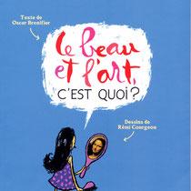 """Lettres au pinceau, titrage d'un album Philoz'enfants """"le Beau et l'Art"""", Nathan"""
