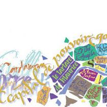 Composition calligraphique pour le catalogue de l'agence Virginie