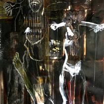 2 CHRISTS acrylique sur toile 2m X 1.2m