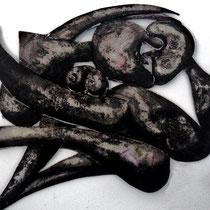 hommage à Picasso - peinture sur PVC 55cm x 50cm