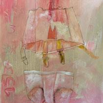 ST6 Acrylic fusain pastel sur papier 130 X 100