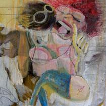 ST18 acrylique sur toile 100 x 80