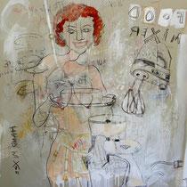 ST3 Acrylic  fusain pastel sur papier  130 X 100