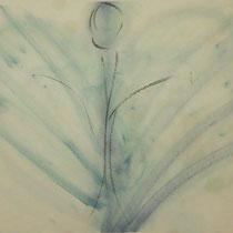 Titel: Herzensengel, 70 x 50 cm, Kreide, Pappe, 20 €