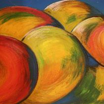 Titel: Erntedank, Maße: 110 x 62 cm, Acryl auf Pappe