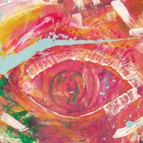 Titel: Augenblick, 84 x 74 cm, Gouache, Papier, 20 €