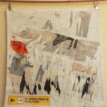 Titel: Luftkissen, 37 x 37 cm, Collage, Kissenbezugg, 10 €
