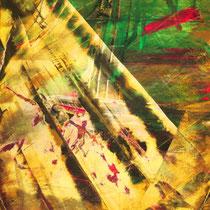 Titel: Sonnentanz, 70 x 50 cm, Gouachefarbe, Pappe, 20 €