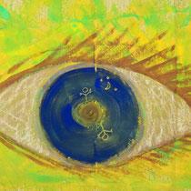 Titel: Die Welt mit anderen Augen sehen, 115 x 78 cm, Gouachefarbe, Pappe, 25 €
