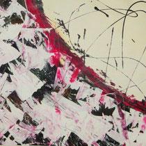Titel: Grenzerfahrungen, 70 x 50 cm. Gouachefarbe, Pappe, 20 €