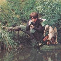 Mehdi et Roxane près de la Rémarde en 1972