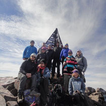 Barry at the summit of Mount Toubkal