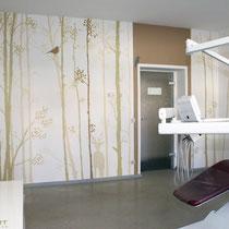 Behandlungszimmer neu gestaltet. Gestaltung für Praxis Beispiele der modernen Innnenraum Gestaltung .