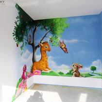 Wandbilder fürs Kinderzimmer in 3d Graffiti Airbrush
