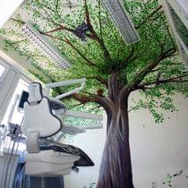 Wandmalerei mit Wandmotiv für Büro und Praxis